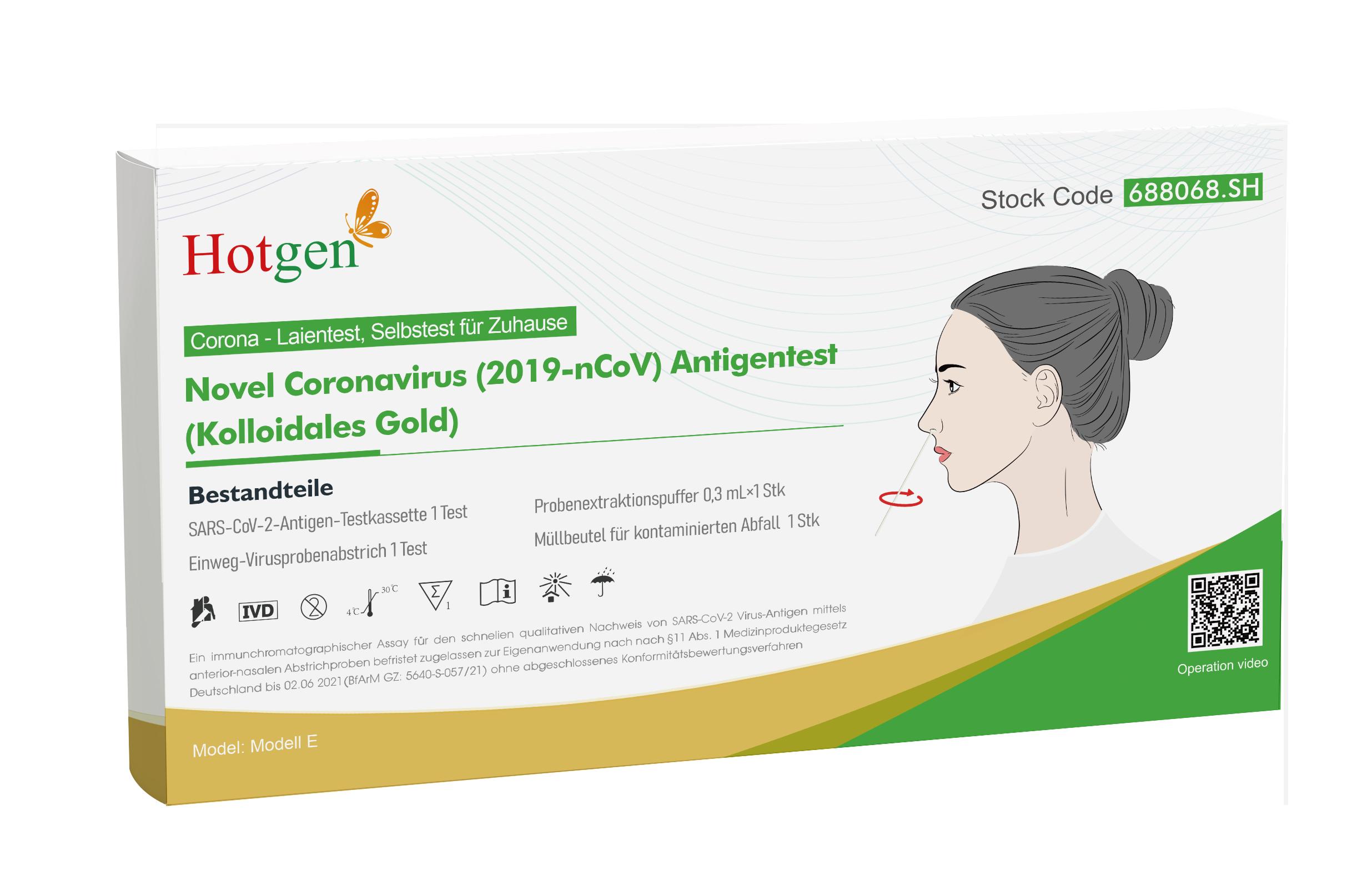 Hotgen Corona Antigen Schnelltest – Selbsttest für Laien