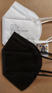 Xique FFP2 Maske schwarz Weiss